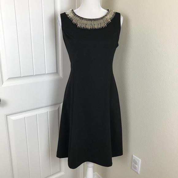 Alfani Dresses & Skirts - Alfani Black silver Beaded Dress Sleeveless Sz 8